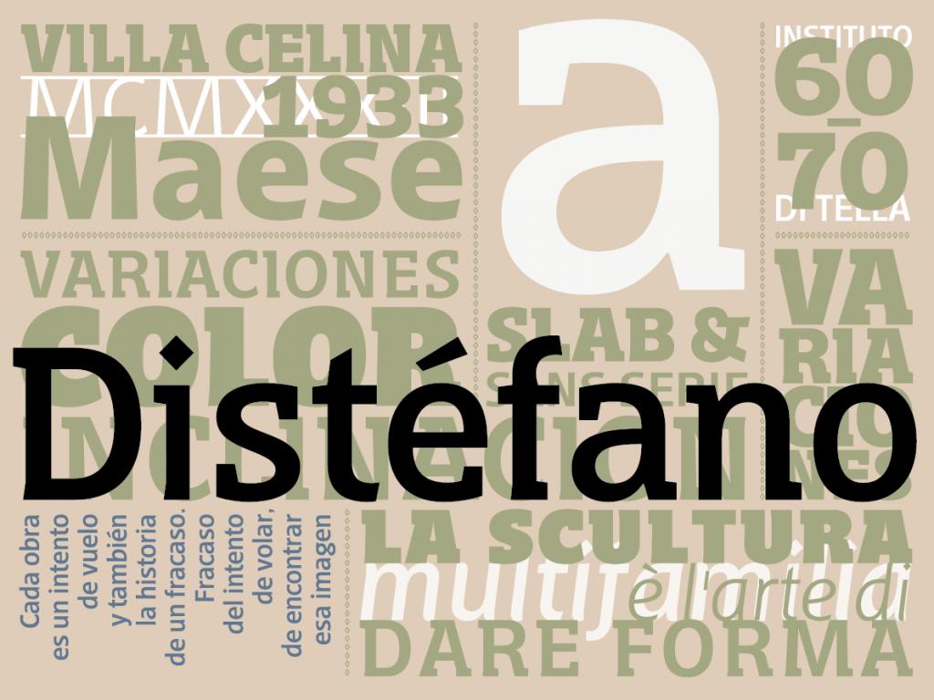 Tipografía Distéfano