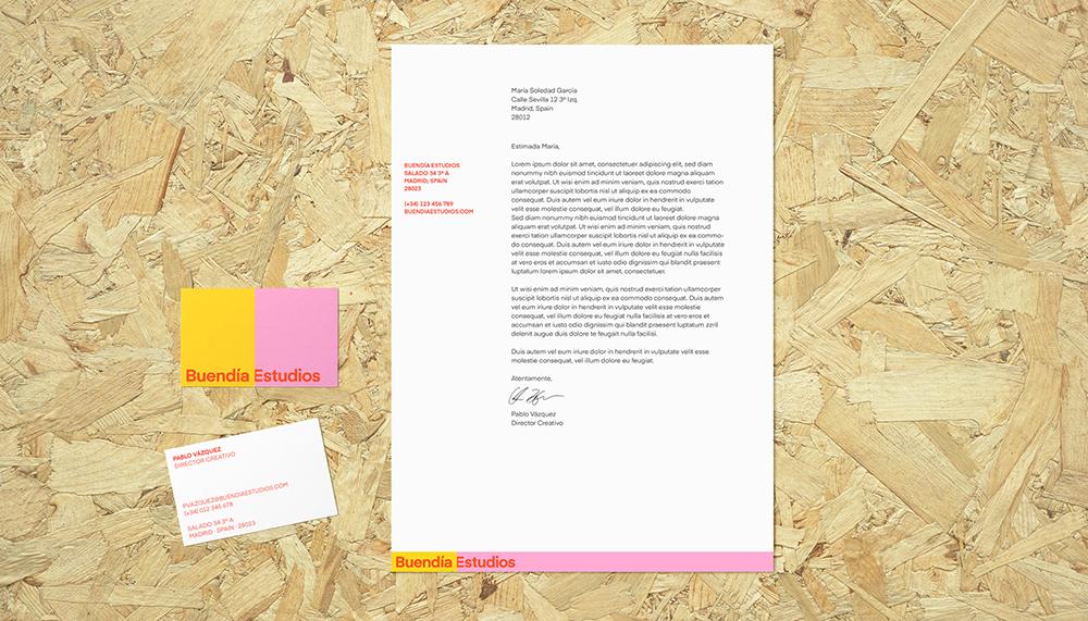 Erretres firma la identidad visual de Buendía Estudios