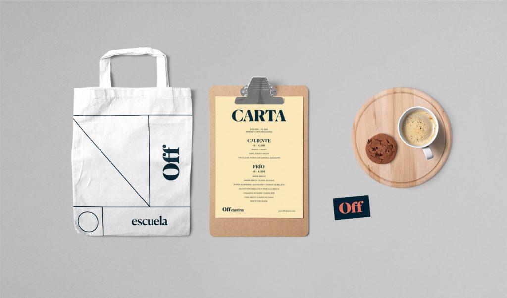 Diseño elementos cafetería de la escuela de artes escénicas de valencia