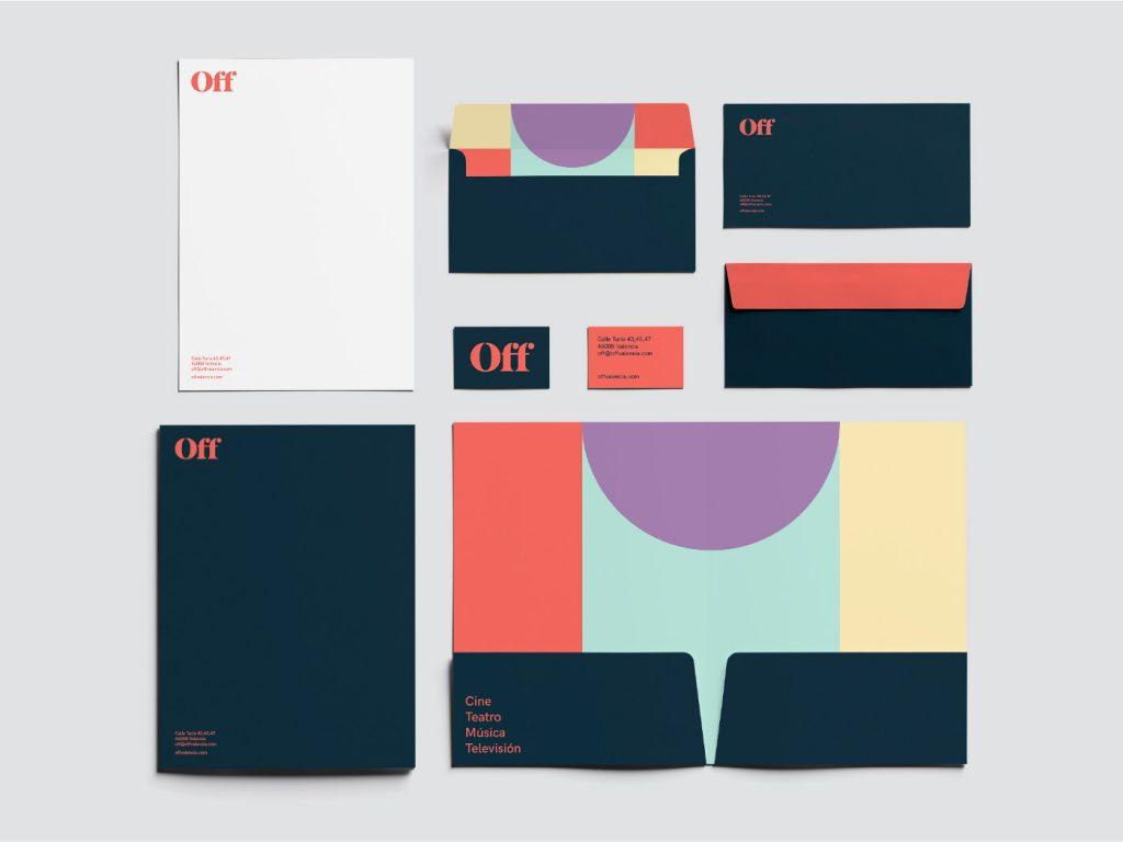 Diseño de papelería para la escuela de Artes Escénicas de Valencia