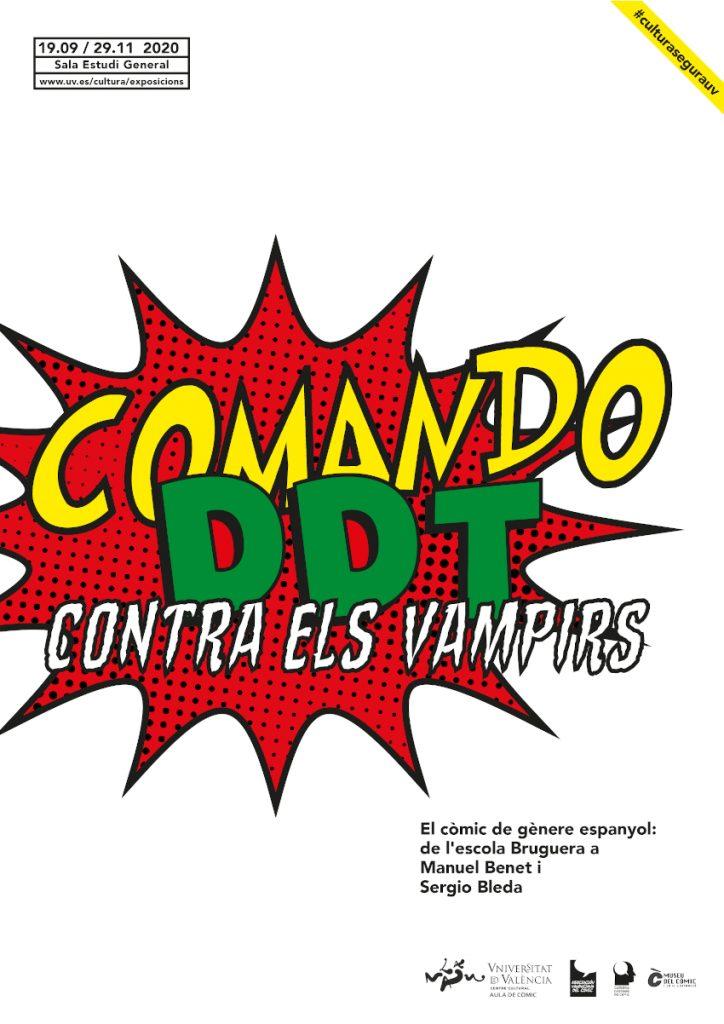 Cartel de la exposición Comando DDT contra los vampiros