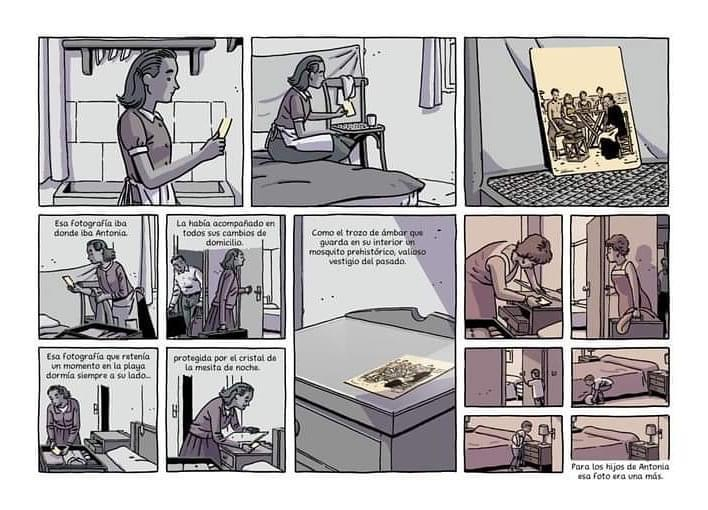 Viñeta en tonos grises del nuevo cómic de Paco Roca Regreso al Edén