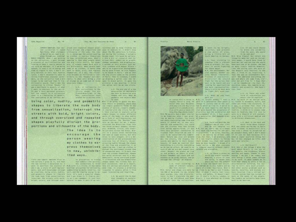 Revista ODDA - Doble página interior 10 del número 19