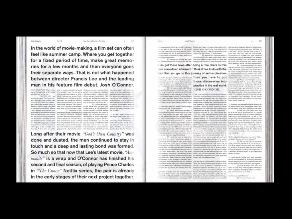 Revista ODDA: el último proyecto de Naranjo-Etxeberria - Doble página interior texto