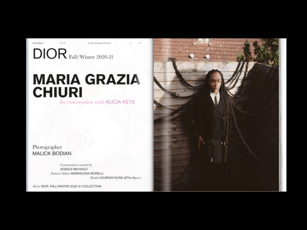 Revista ODDA: el último proyecto de Naranjo-Etxeberria - Doble página Maria grazia Chiuri