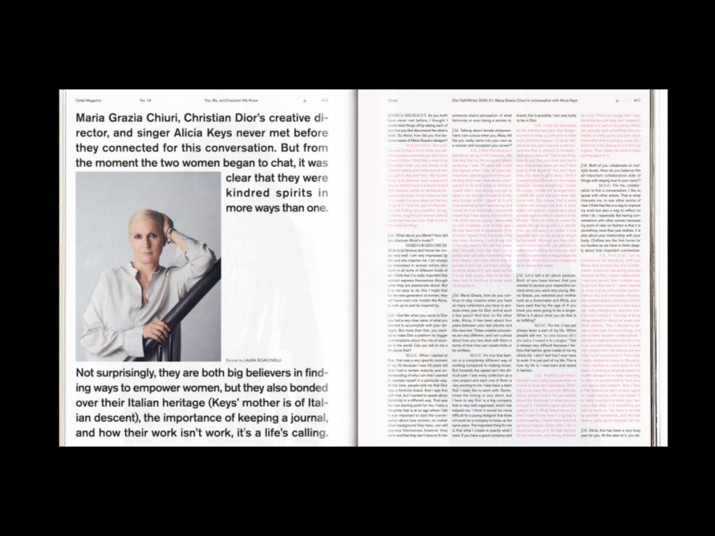 ODDA Magazine: el último proyecto de Naranjo-Etxeberria - Doble página con texto e imagen.