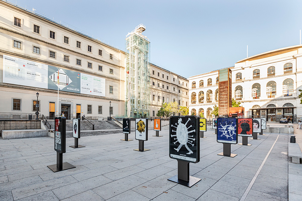 Exposición 'CovidExit' en Madrid Gráfica 2020 - Plaza Juan Goytisolo 3