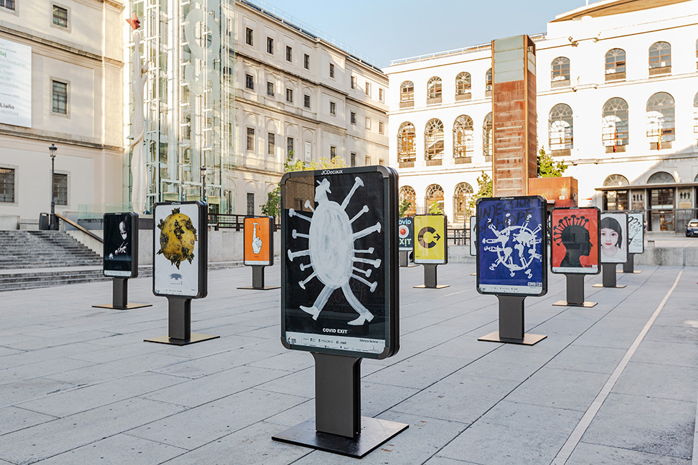 Exposición 'CovidExit' en Madrid Gráfica 2020 - Plaza Juan Goytisolo 2