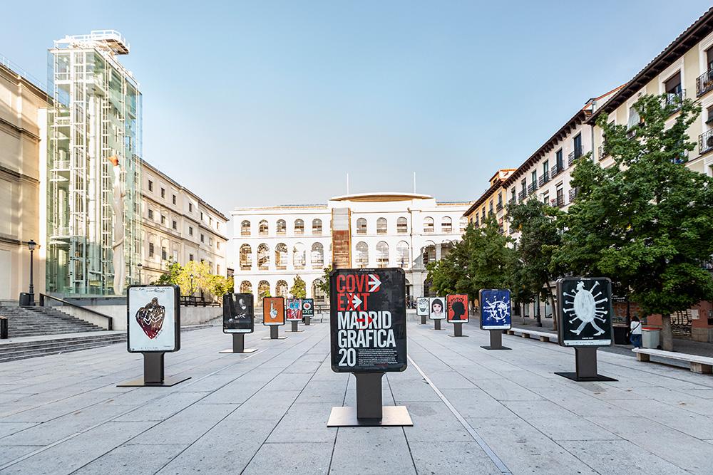 Exposición 'CovidExit' en Madrid Gráfica 2020 - Plaza Juan Goytisolo 1
