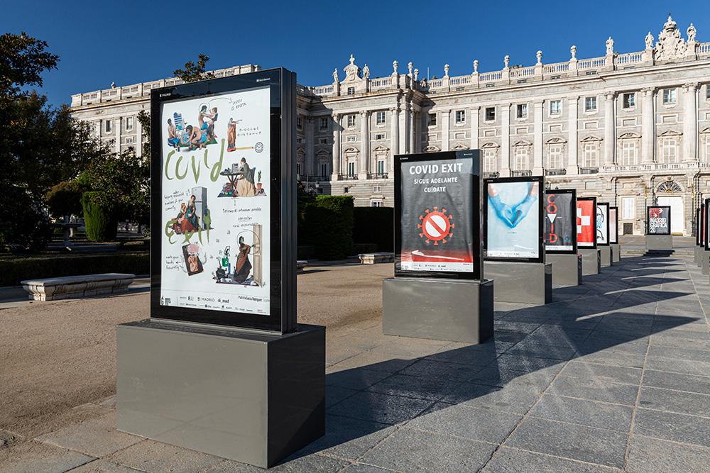 Exposición 'CovidExit' en Madrid Gráfica 2020 - Plaza Oriente