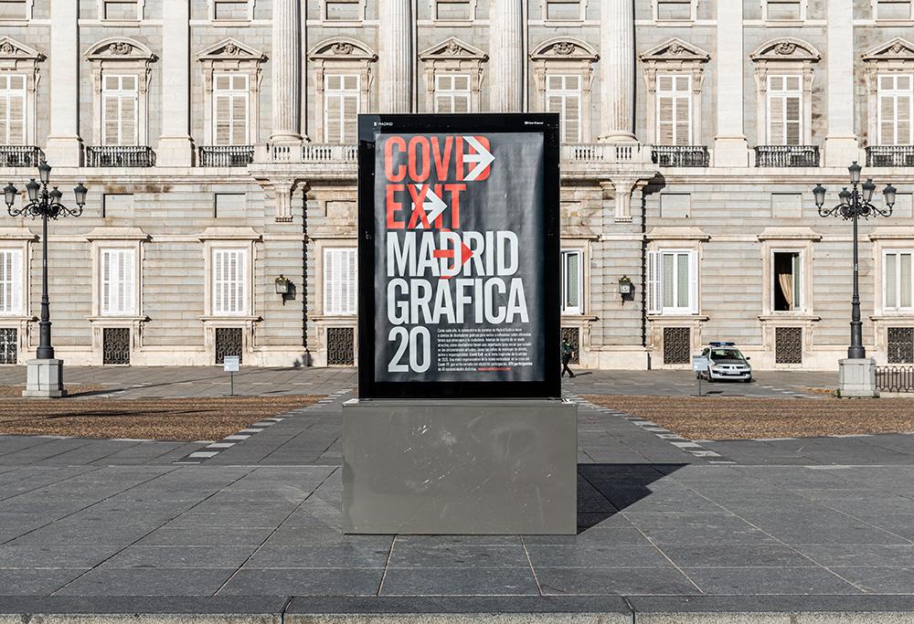 Los carteles de más de 500 diseñadores reunidos en la exposición 'CovidExit' en Madrid Gráfica 2020