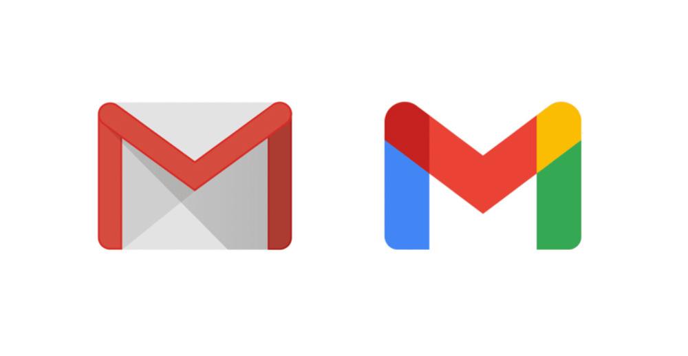 el antiguo logo de Gmail y el nuevo logo de gmail