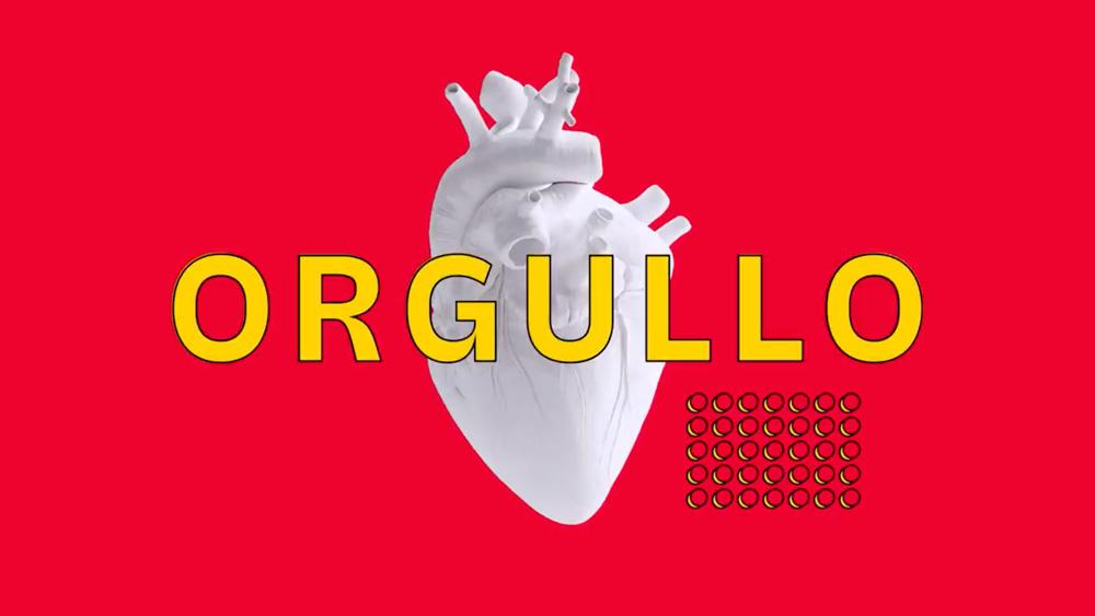 #OrgulloPorLoNuestro imagen del corazón del anuncio