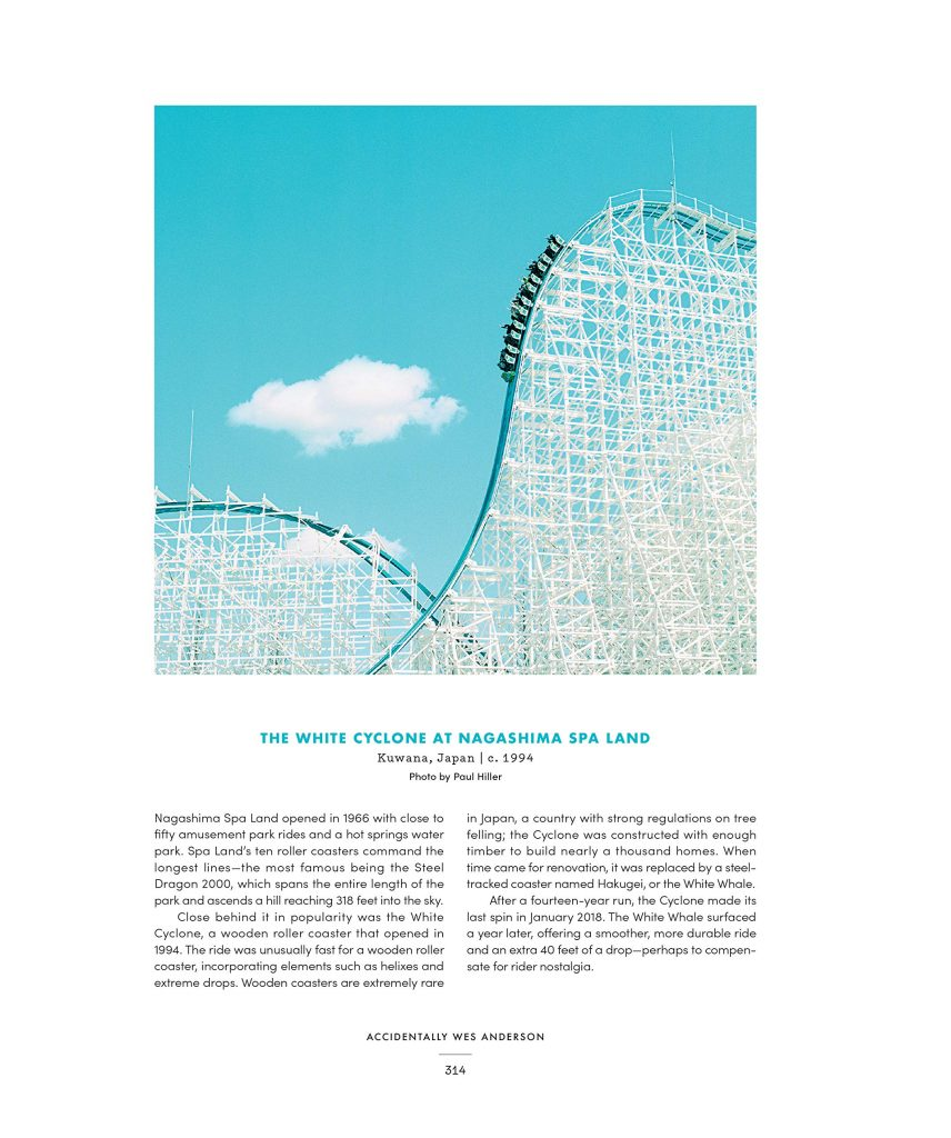 Página interior del libro de Wally Koval en la que sale una fotografía de una montaña rusa