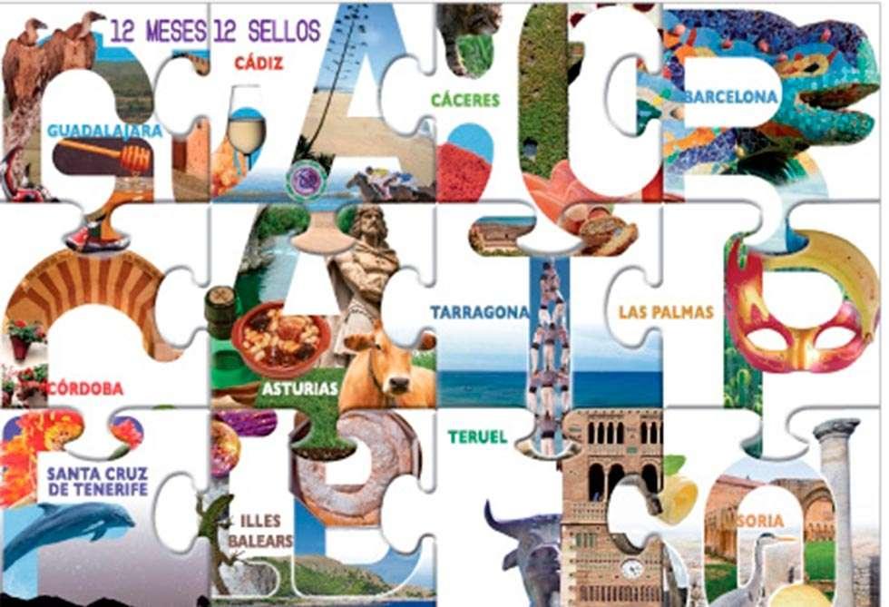Postal que forma parte de la campaña de los sellos de correos dedicados a ciudades: 12 sellos, 12 horrores