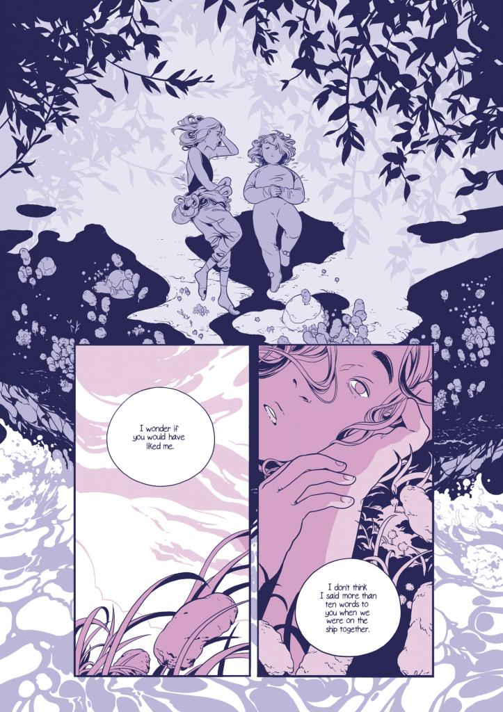 Página de 'Lo que queda' la segunda obra del tríptico