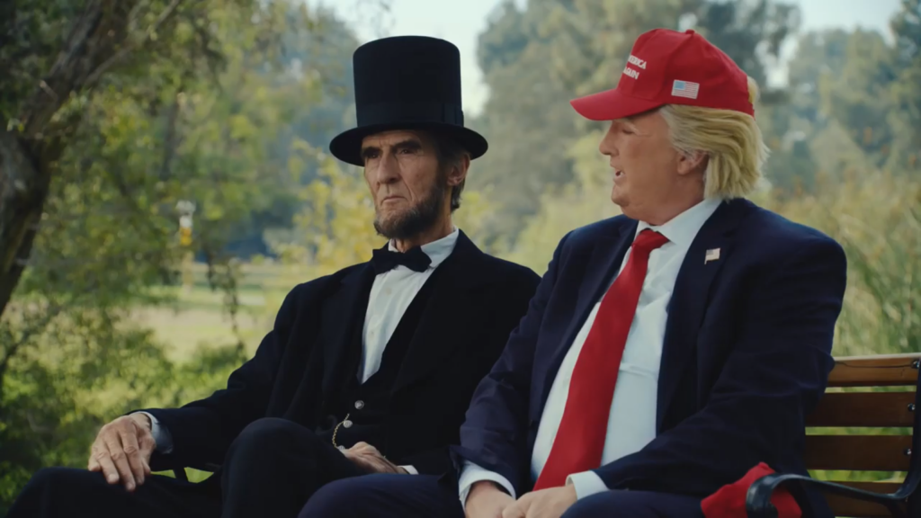 Trump y Lincoln parodiados en la campaña #AbeAndTrump