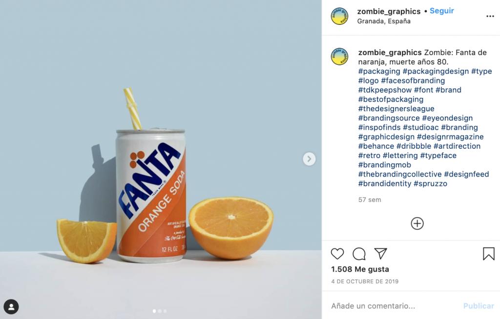 """Zombie Graphics es la cuenta de Instagram que """"resucita"""" el packaging - Fanta"""