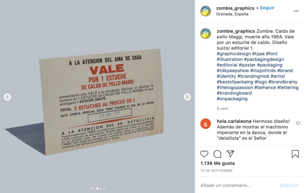 """Zombie Graphics es la cuenta de Instagram que """"resucita"""" el packaging - Maggi"""