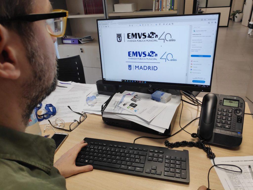 El nuevo concurso de diseño de Madrid que sustituye el Acuerdo Marco. Imagen de una pantalla de ordenador con diferentes logotipos.