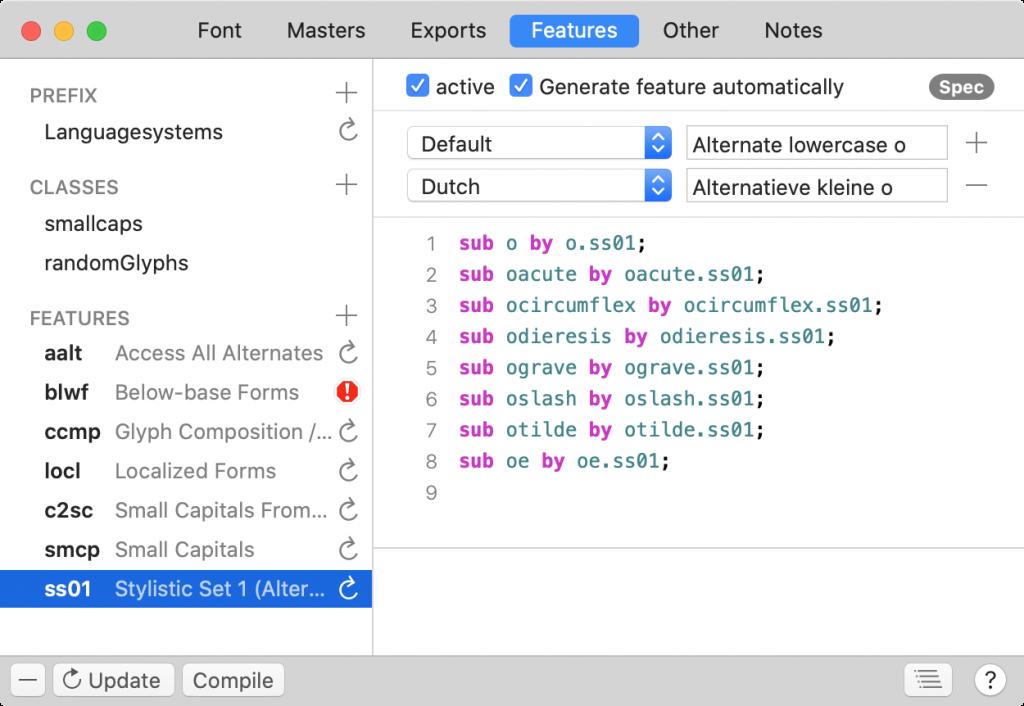 Glyphs 3, la app para diseñar tipografías, lanza su última versión -Features