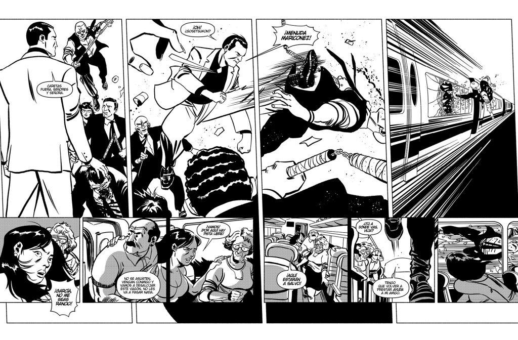 Viñeta del nuevo cómic de Santiago y Luis