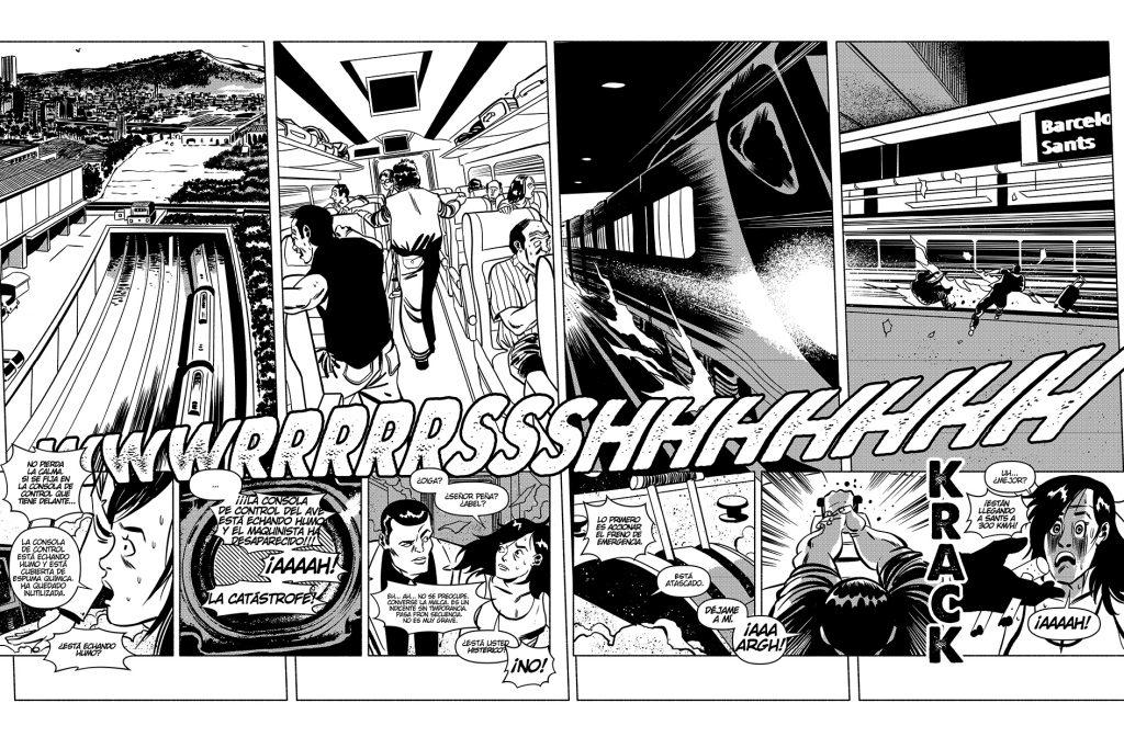 Viñeta del nuevo cómic de Santiago García y Luis Bustos