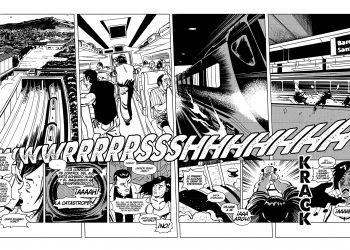 Viñeta del nuevo cómic de Santiago García y Luis Bustos, ¡García! en Catalunya