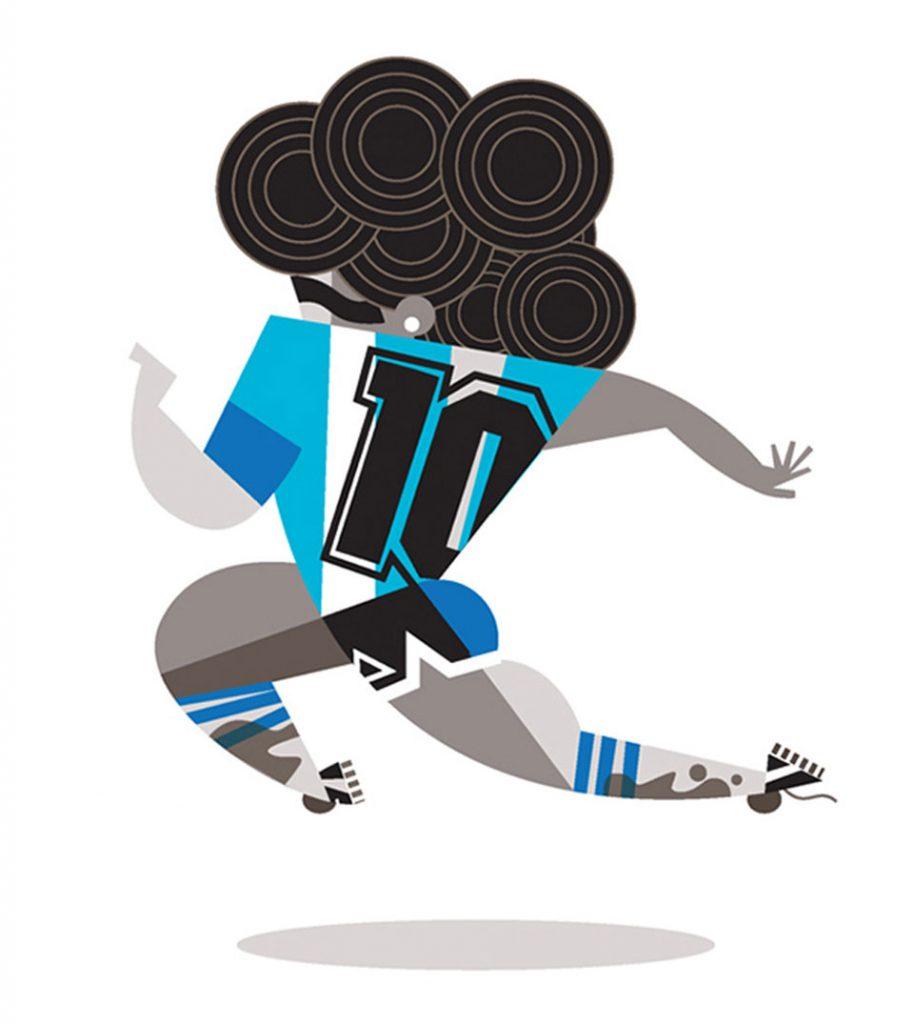 Mejores ilustraciones Maradona