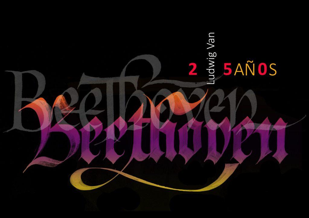 Carteles 250º aniversario Beethoven. Negra40