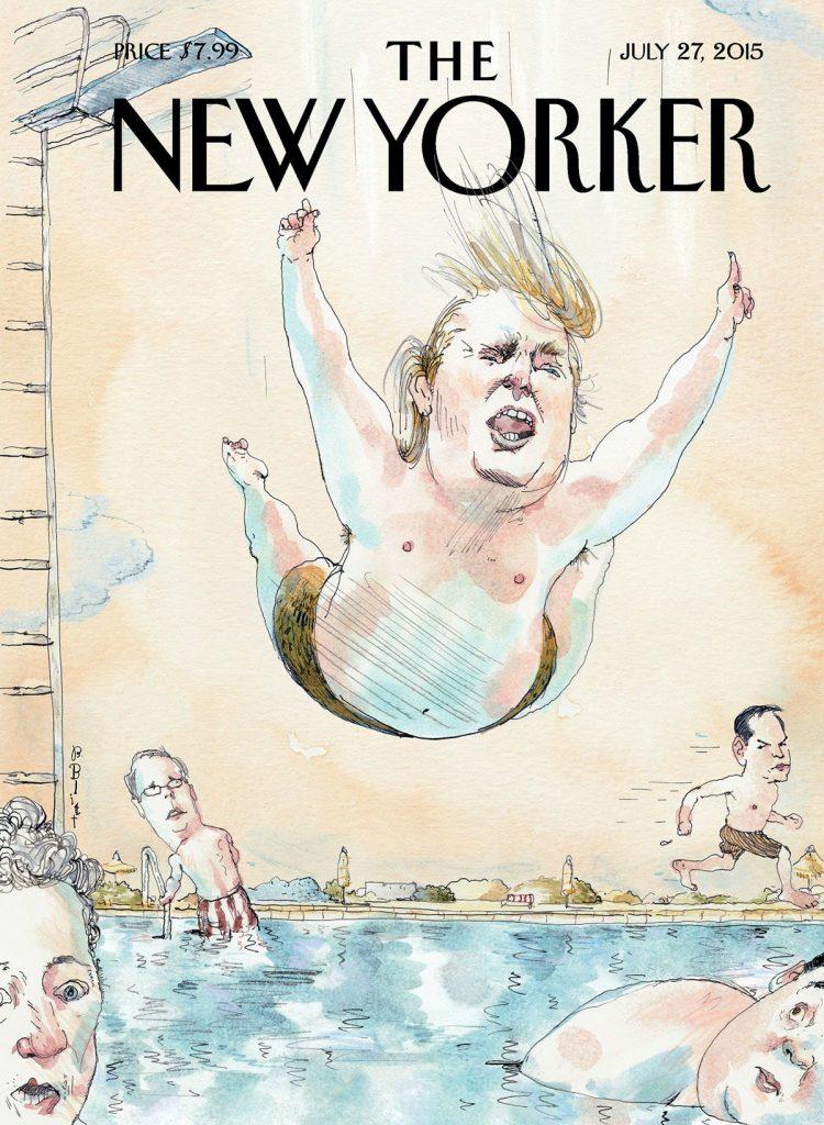 The New Yorker Trump. ilustración satírica