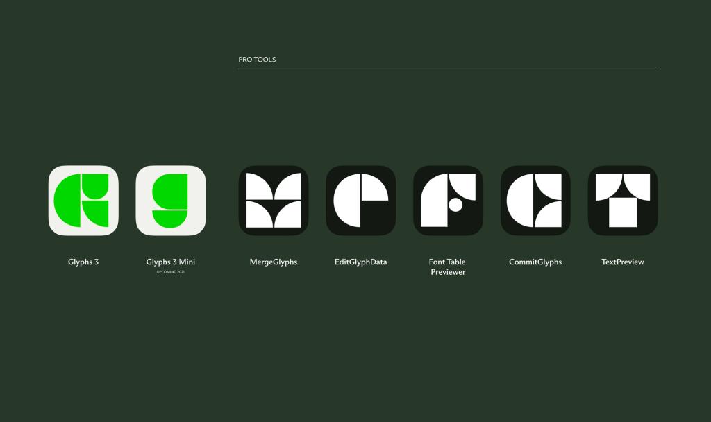 Glyphs software