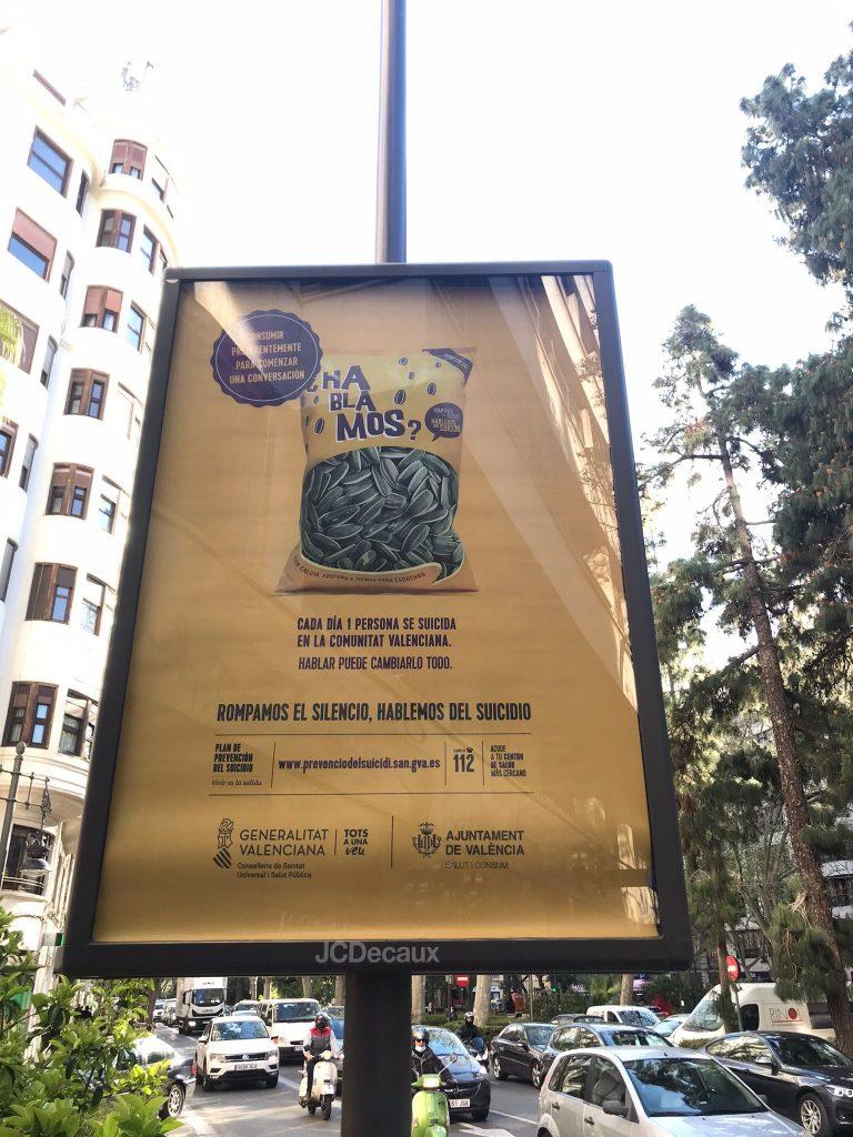 cartel campaña prevención del suicidio Valencia