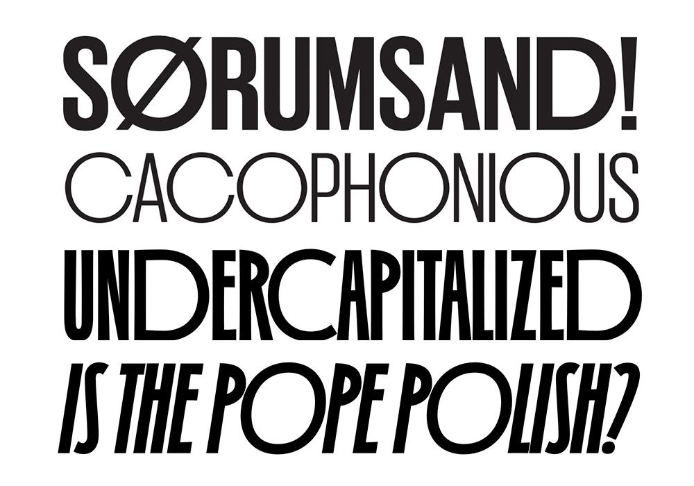 tipografía Irregardless