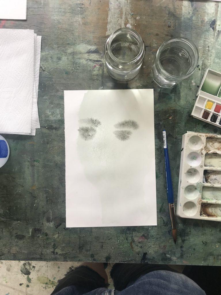 retratos con acuarela