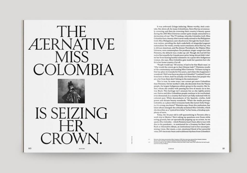 tipografía revista Kinfolk
