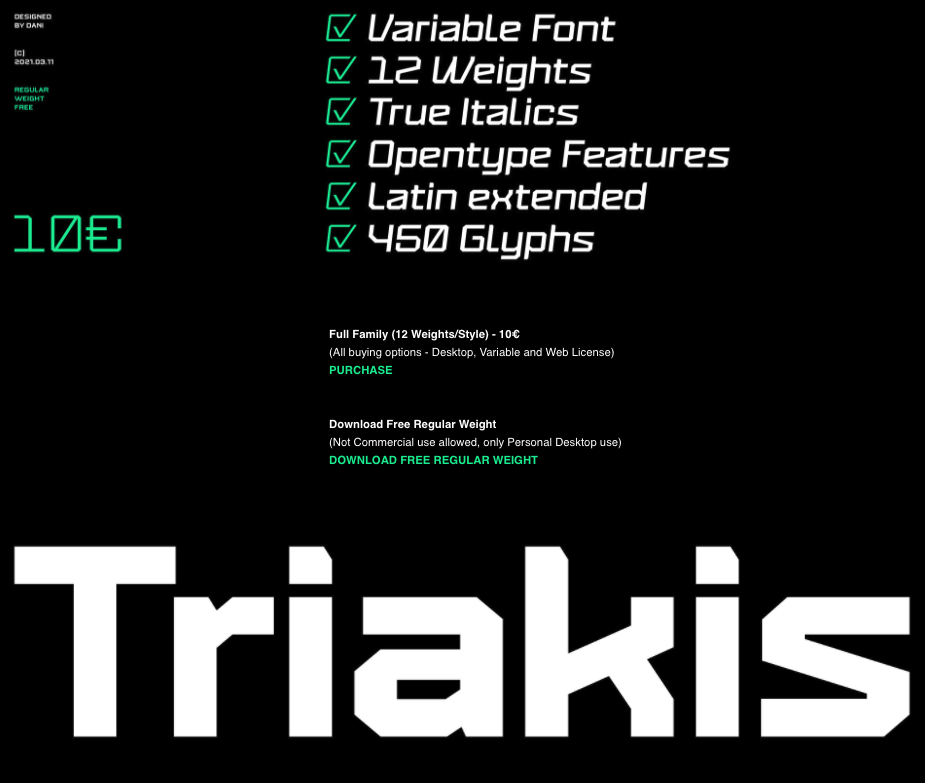 tipografía Triakis