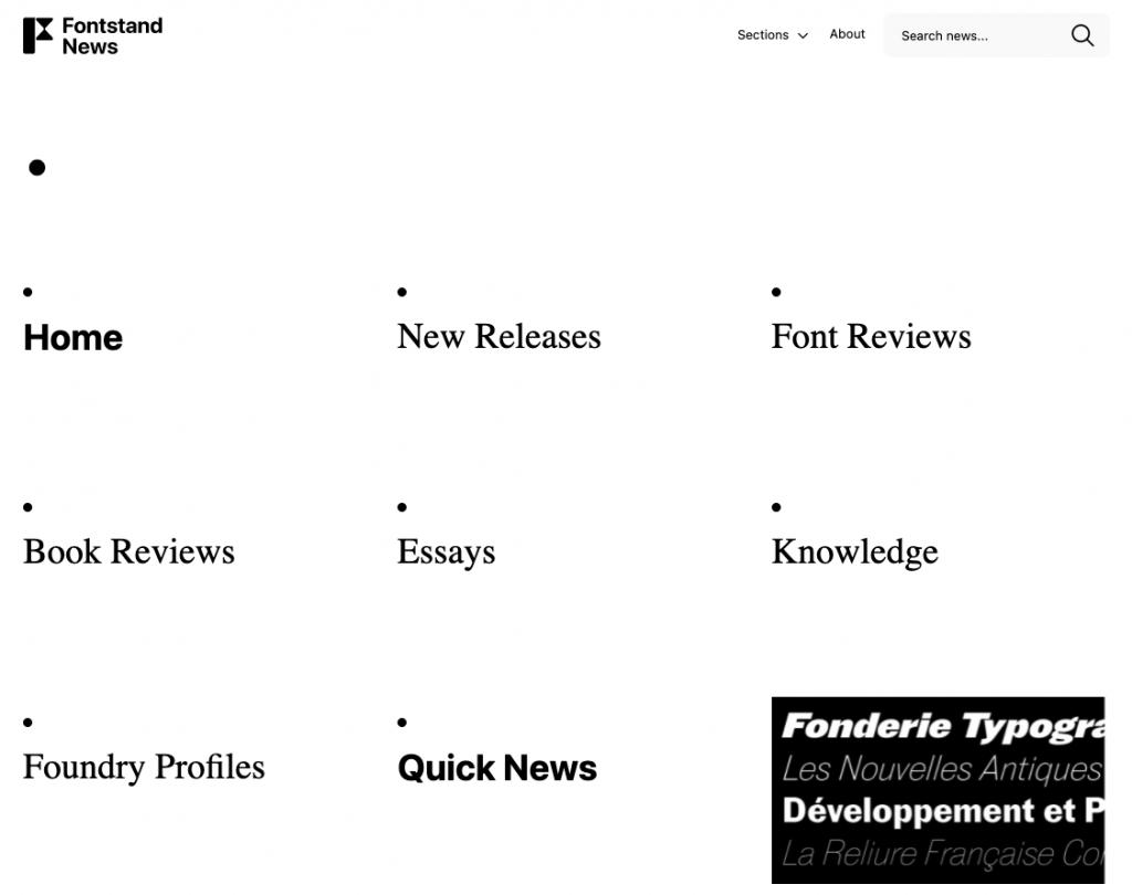 Fontstand News