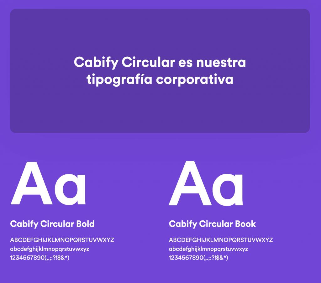 Tipografía Cabify