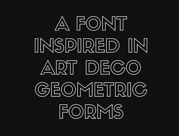 Siffon Font, fuente display geométrica de Rafa Goicoechea