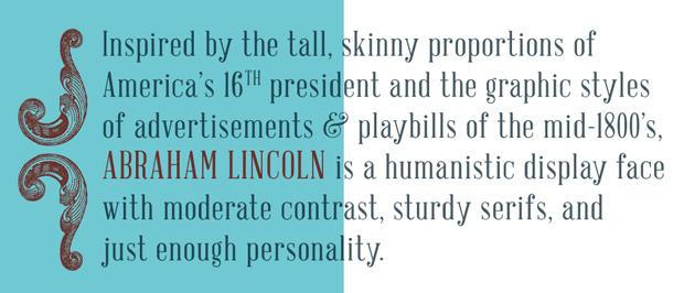 tipografía Abraham Lincoln