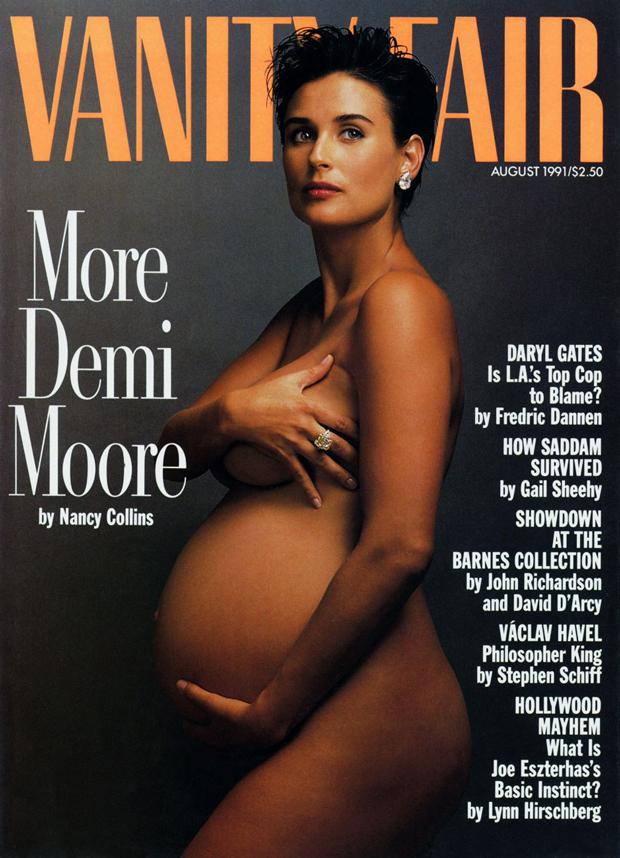 Annie-Leibovitz, Demi Moore en la portada de Vanity Fair en 1991