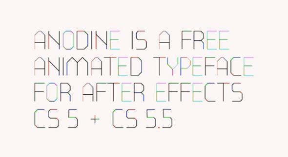 Anodine, tipografía animada
