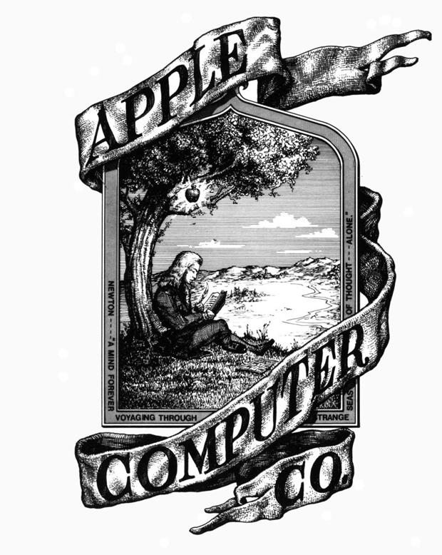 diseño del primer logo de Apple