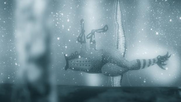 submarino marionita del corto de animación Astigmatismo de Nicolai Troshinsky
