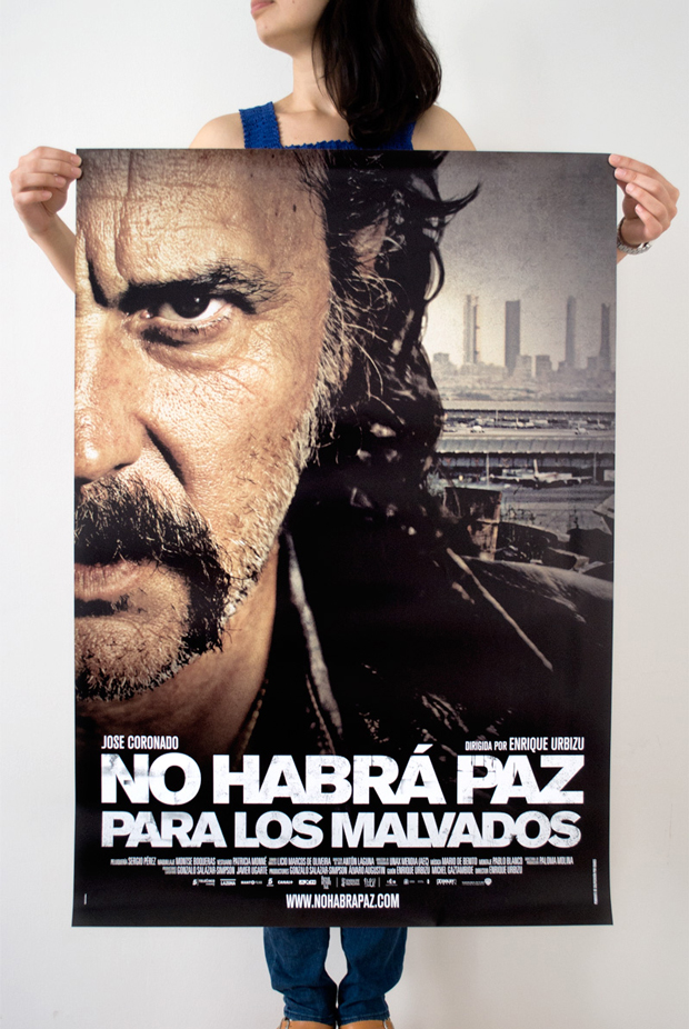 Barfutura, cartel de la película 'No habrá paz para los malvados'
