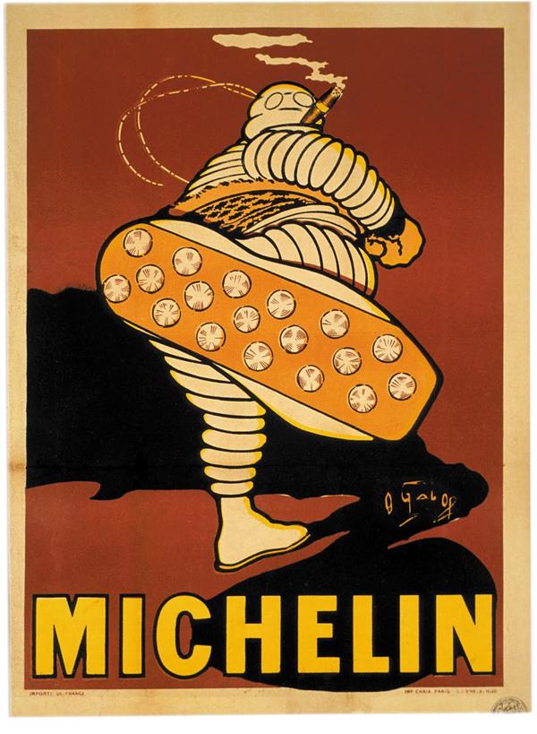 Bibendum, cartel de los primeros años