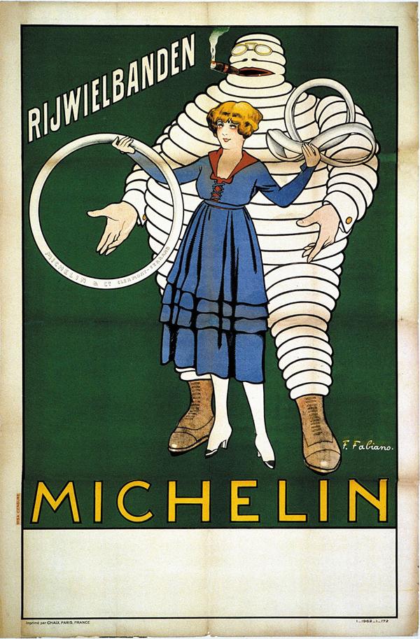Bibendum, cartel de los años 20