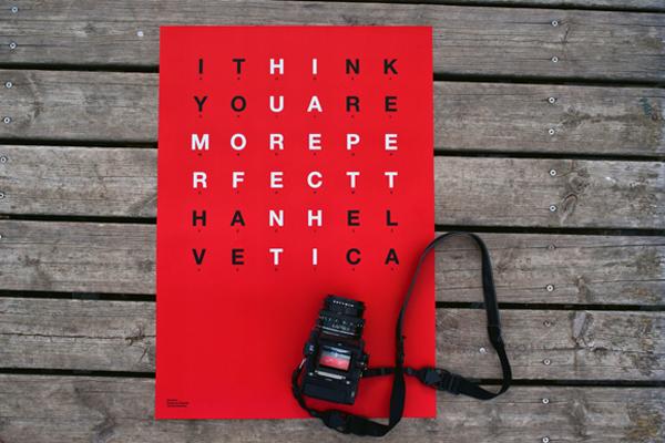Bisgràfic Helvetica poster