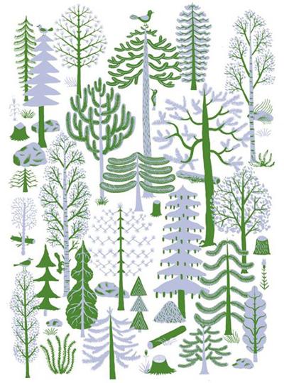 Bjorn Lie, ilustraciones de árboles